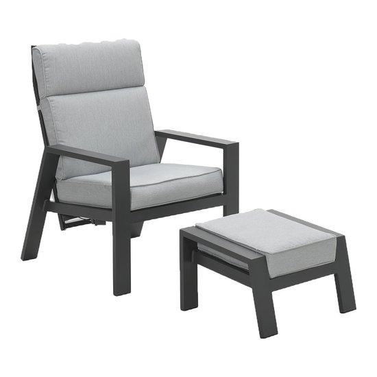Max verstellbarer Stuhl+ Fußbank