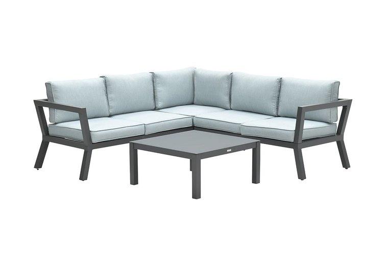 Garden Impressions Colorado lounge set 3-delig - carbon black/ mint grey