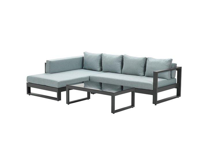 Garden Impressions Esmee loungeset 3-delig - rechts - carbon black/ mint grey